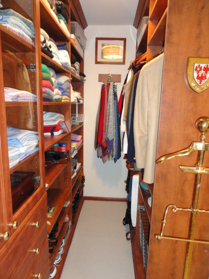 Small Hard Wood Walk In Closet