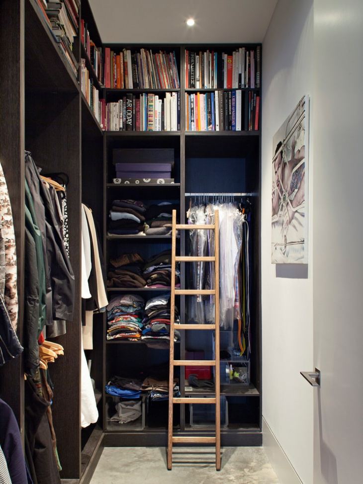 Small Black Walk In Closet Idea