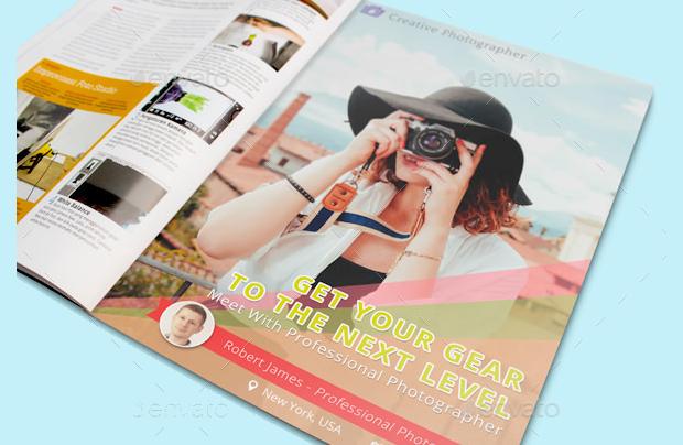 Photography Magazine Advertisement Mockup Design