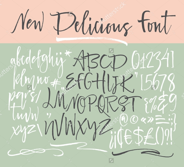 abstract cursive font