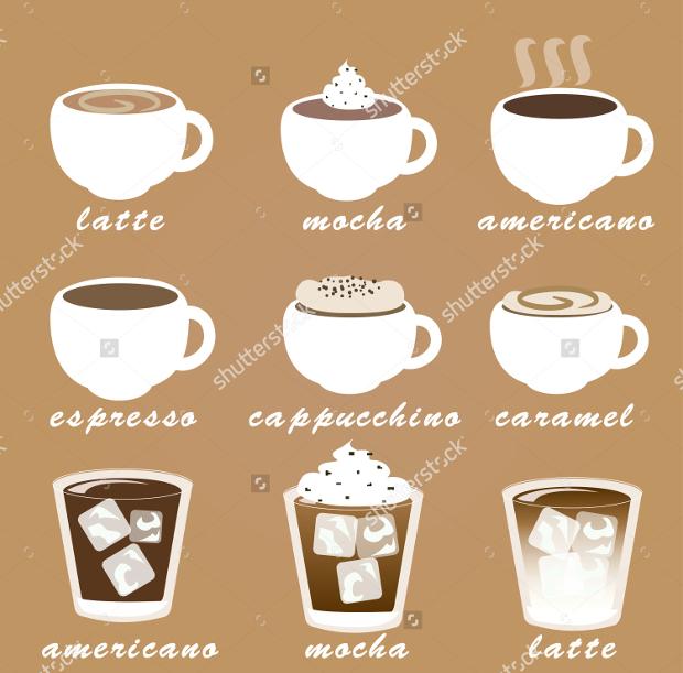 morning coffee vector set