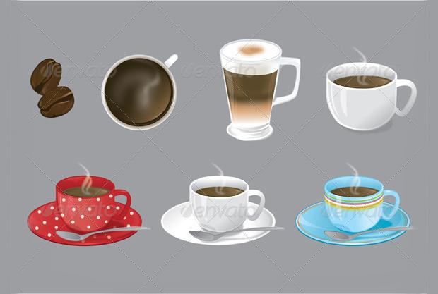 coffee themed vector illustration