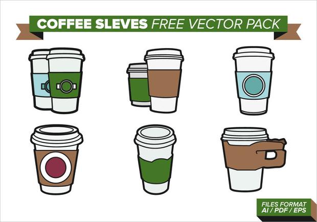 coffee sleeves free vector pack
