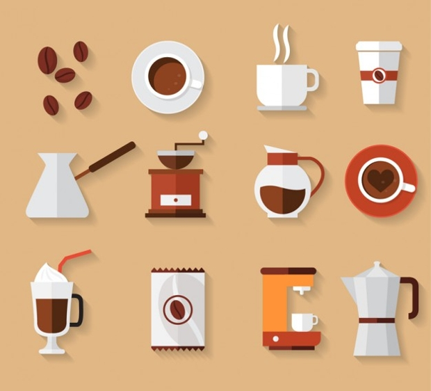 coffee collection free vector