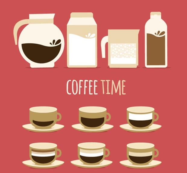 coffee time vector design