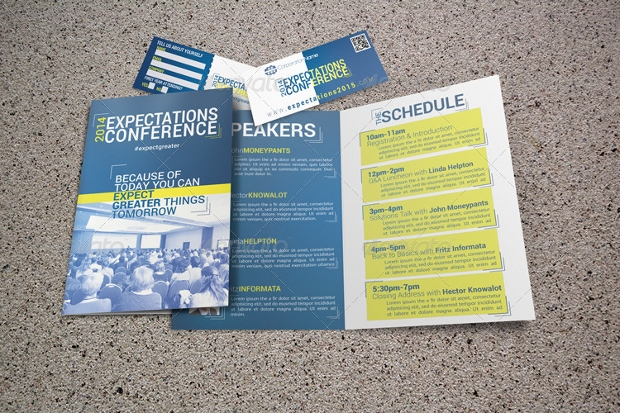 Conference Brochures  Free Psd Ai Indesign Vector Eps Format
