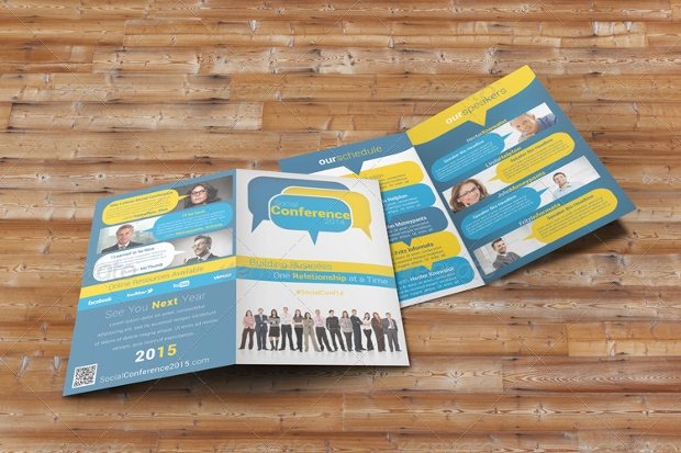 Social Conference Bifold Brochure