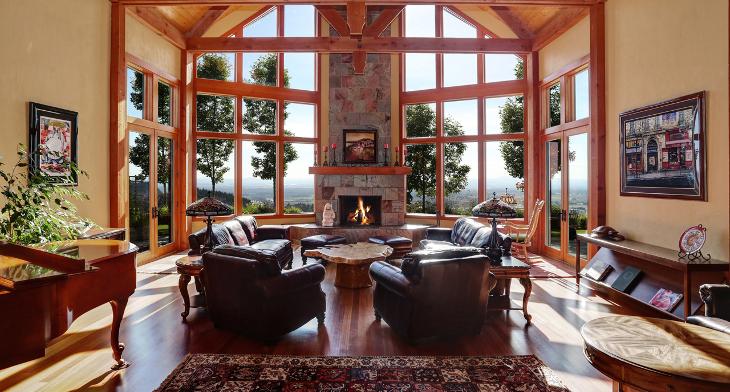 Chalet Living Room Designs
