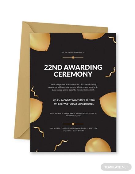 award ceremony invitation design