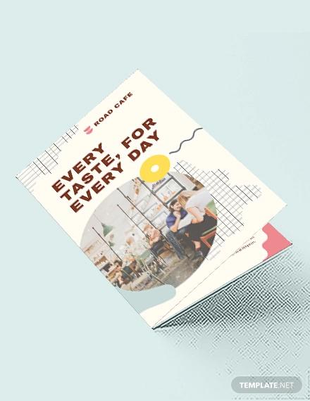 cafe bi fold brochure template