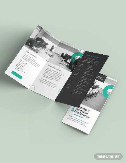 conference tri fold brochure template