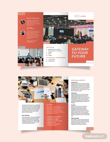 corporate training tri fold brochure template