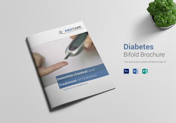 diabetes bi fold brochure template