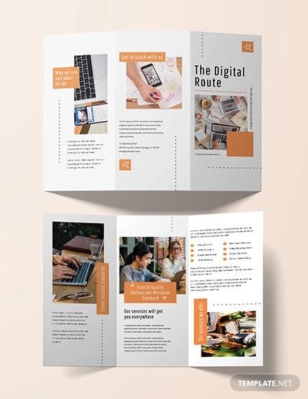 digital marketing brochure template