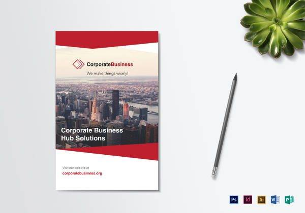 Editable Bi-Fold Corporate Business Brochure