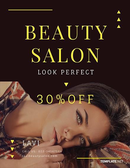 free beauty salon flyer designtrends