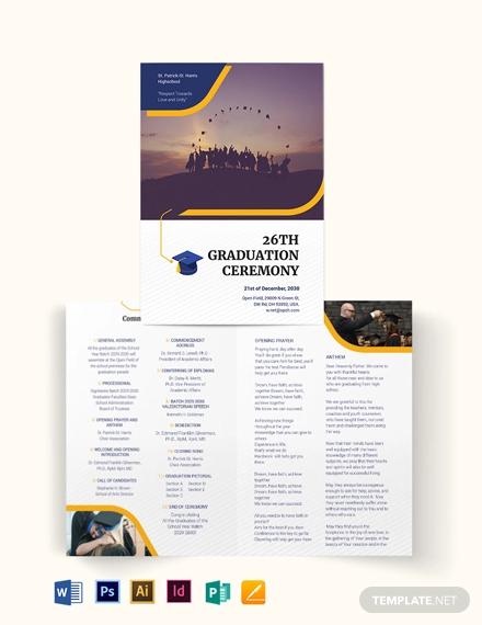 graduation bi fold brochure template