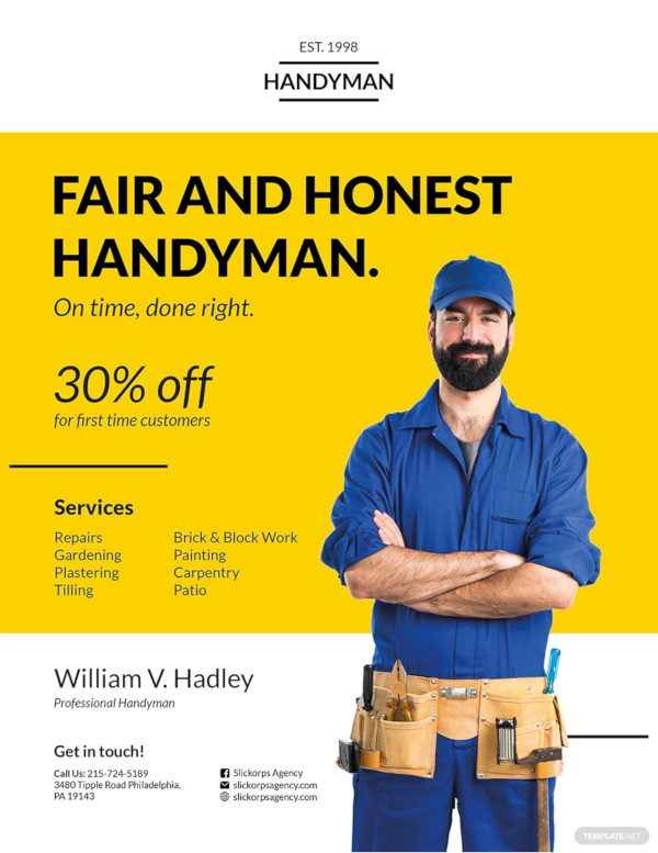 handyman flyer design template