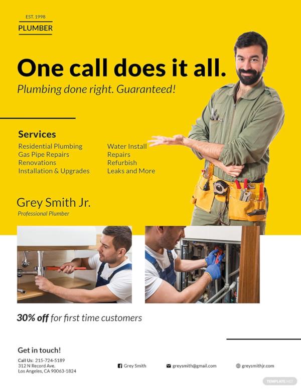 handyman plumber flyer