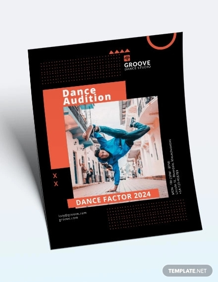 sample dance audition flyer