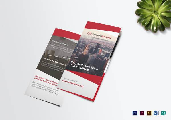 Tri-fold Corporate Business Brochure in MS Word Format