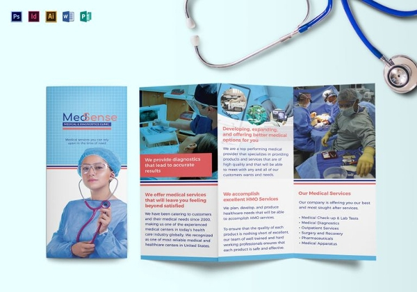 23 hospital brochure free psd ai indesign vector eps for Free medical brochure templates