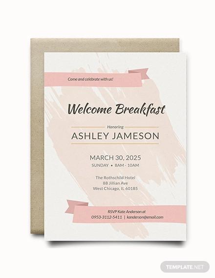 welcome breakfast rsvp invitation