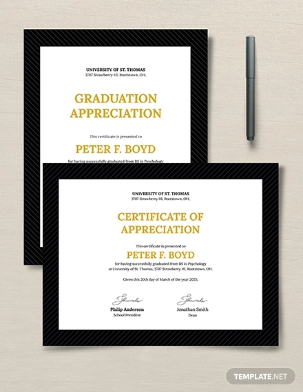 graduation appreciation