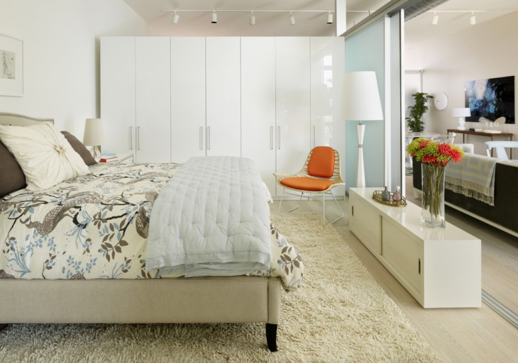 White bedroom wardrobe design