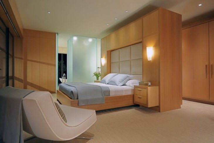 Elegant wood Bedroom Wardrobes with Ceiling light designs