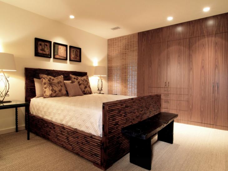 Dark Wood Bedroom Wardrobe Design