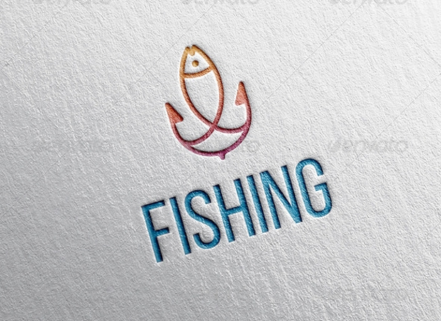 Anchor and Fishing Logo