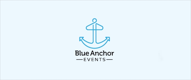 Blue Anchor Logo Design