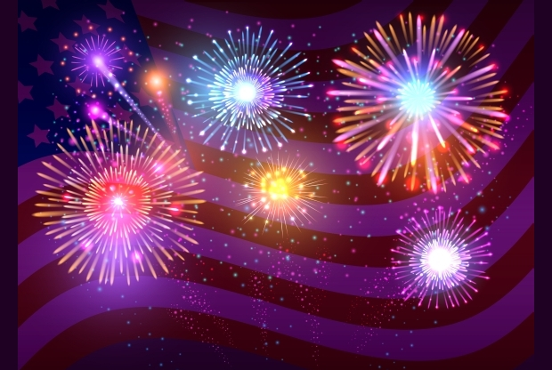 Festive Fireworks Vector Set