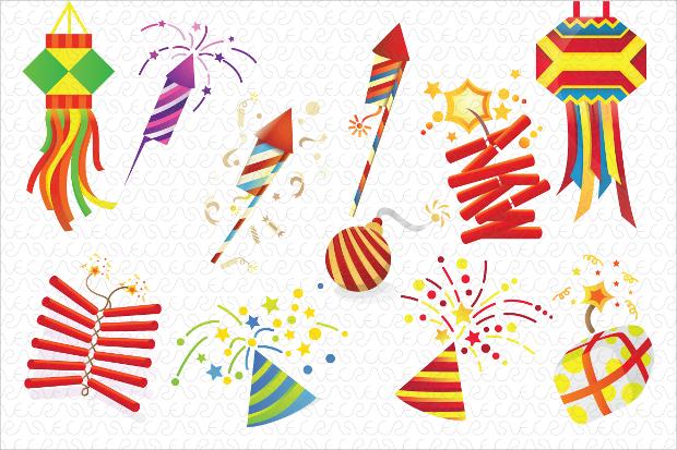Celebration Fireworks Vector Design