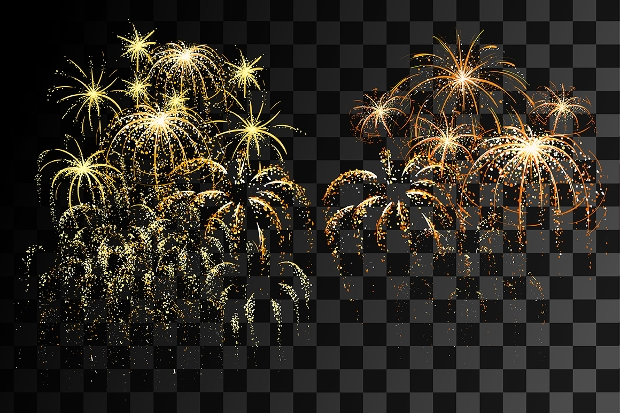 Colorful Illuminated Fireworks