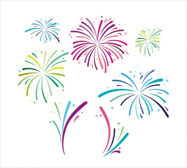 elegant fireworks free vector
