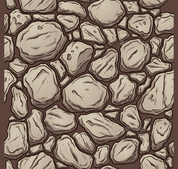 Seamless Rock Pattern