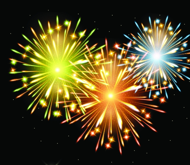 fireworks effect free vector