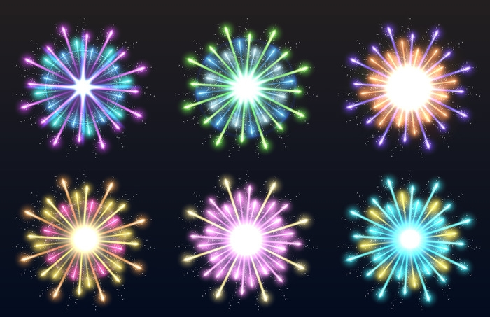 fireworks explosion vectors