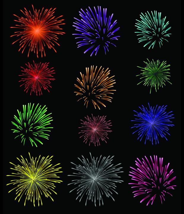 Splendid Fireworks Vector