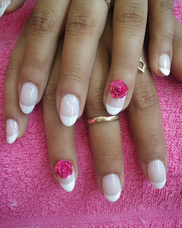 Hibiscus French Manicure