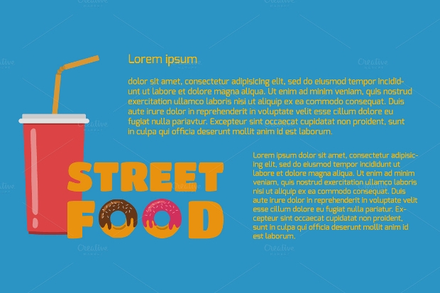 Street Food Banners Set