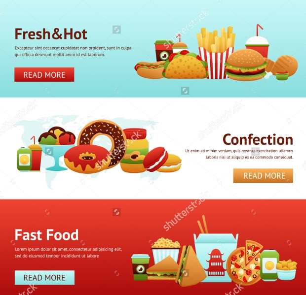 Fast Food Horizontal Banner