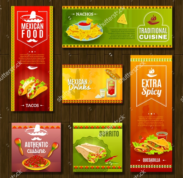 Mexican Food Cafe Restaurant Banner