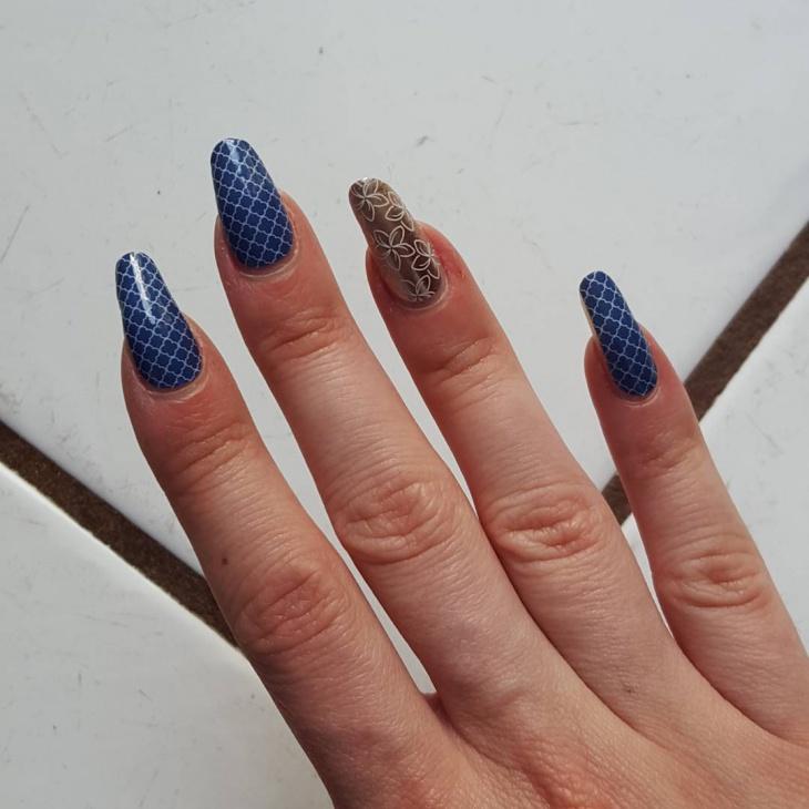Classy Long Nail Design