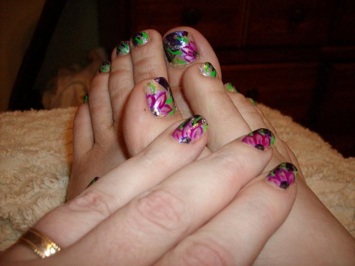 fancy toe nail art idea