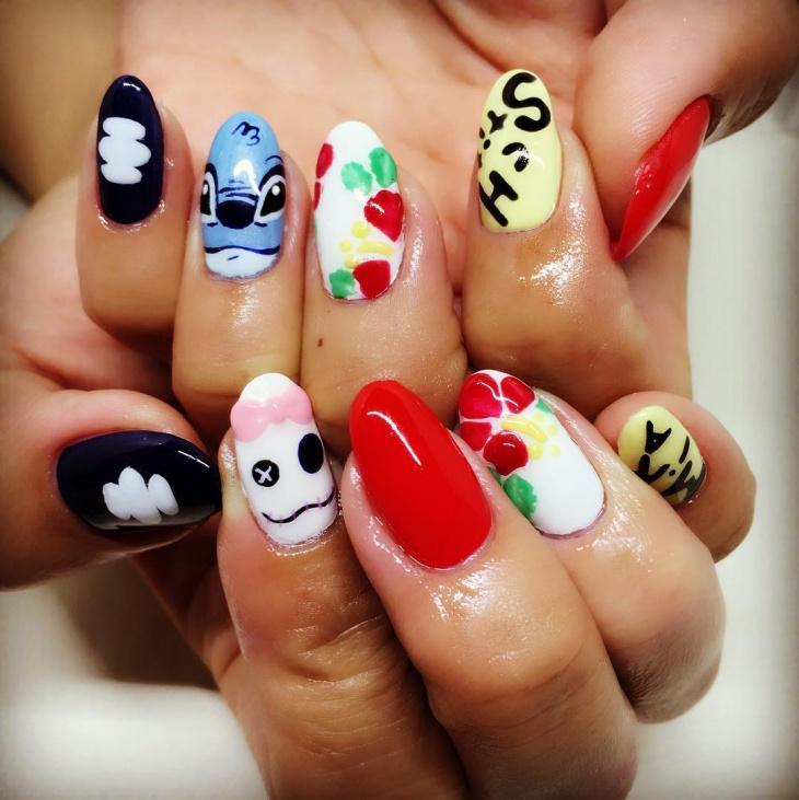 gorgeous pointy nail design