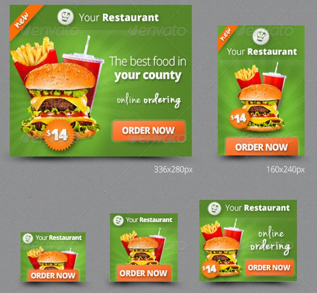 restaurant fast food banners