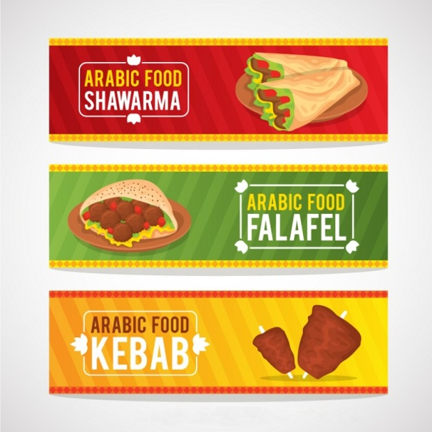 Arabic Food Banners